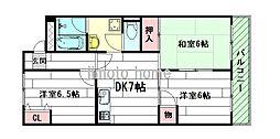 ブリックハイツ江坂[7階]の間取り