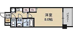 Osaka Metro御堂筋線 東三国駅 徒歩3分の賃貸マンション 3階1Kの間取り