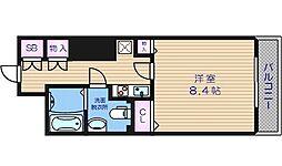 メゾン・ド・ヴィレ大阪城公園前 15階1Kの間取り