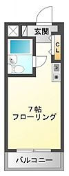 ファインクレスト江坂[7階]の間取り