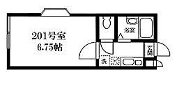 アポロ1号棟[2階]の間取り
