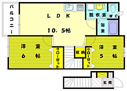 シーサイドコム[2階]の間取り