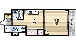 新大阪第1ダイヤモンドマンション[8階]の間取り