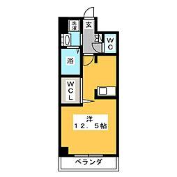 ネクステージ中井[4階]の間取り