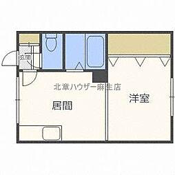 スワンマンション[2階]の間取り