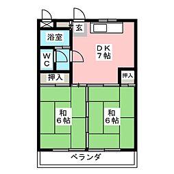 レジデンス成田[3階]の間取り
