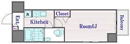 プレステージ西台ステーションフロント[5階]の間取り
