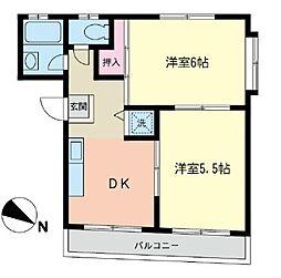 神奈川県横浜市西区中央2丁目の賃貸マンションの間取り