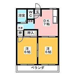 ハピネス井ケ谷[1階]の間取り