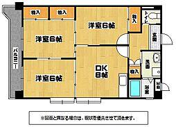 第三矢野ビルB棟[2階]の間取り