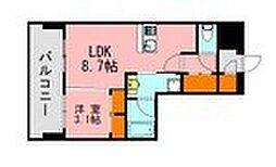 LANDIC K320 7階1LDKの間取り