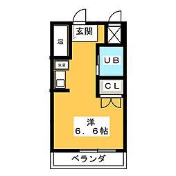 スミックスコーポ宝生[4階]の間取り