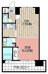 エンクレスト福岡(1003)[1003号室]の間取り