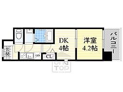 ビガーポリス346京橋2 8階1DKの間取り
