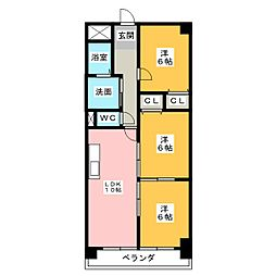 サムティレジデンス春日井[1階]の間取り