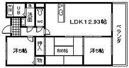 ア・コテ・ドゥ・シャトーさくら[202号室]の間取り