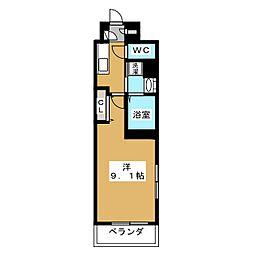 ベラジオ堀川今出川[4階]の間取り
