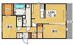 (仮)D-room郡津[2階]の間取り