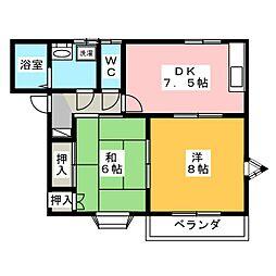 シノハラコーポ B棟[1階]の間取り