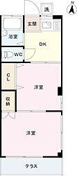 コーポ村田[1階]の間取り