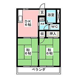 東濃園ハイツ[2階]の間取り