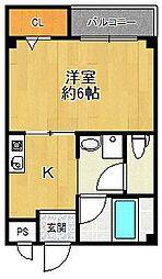 フォルム浦風町[1階]の間取り