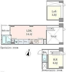 ベルメゾン南麻布grand[2階]の間取り