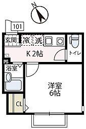 仮称フィカーサ片倉[101号室号室]の間取り