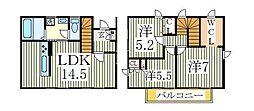 [一戸建] 千葉県柏市大室3丁目 の賃貸【千葉県 / 柏市】の間取り