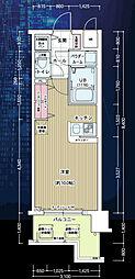 アドバンス大阪ドーム前[4階]の間取り