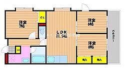 成和第二ビル[2階]の間取り
