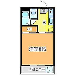 広島県東広島市西条町助実の賃貸アパートの間取り