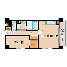 兵庫県尼崎市西川2丁目の賃貸マンションの間取り