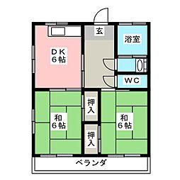 コーポ観世IID棟[2階]の間取り