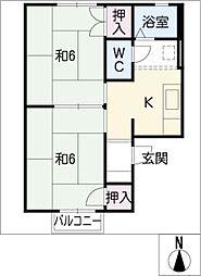 ファミールカオリ[1階]の間取り