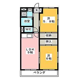 ロイヤルマンションマリエ[3階]の間取り