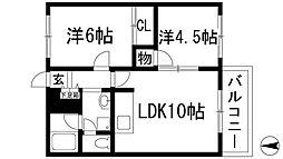 ウッディーパル[2階]の間取り