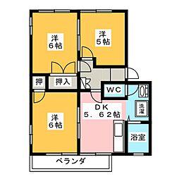 シャインミヤマエC[2階]の間取り