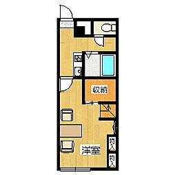 レオパレスアルテート[1階]の間取り