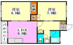 JAIRO薬園台[203号室]の間取り