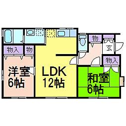 [一戸建] 栃木県鹿沼市西茂呂3丁目 の賃貸【/】の間取り