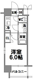 エスリード新大阪グランファースト[801号室]の間取り