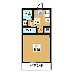 ワイセローゼマキ[1階]の間取り