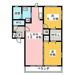 Polaris A[1階]の間取り
