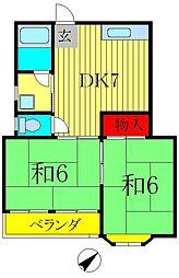 鈴木コーポ[1階]の間取り