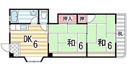 河西マンション[301号室]の間取り