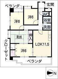 ホーム岩崎台[3階]の間取り