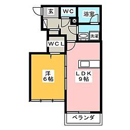 SAKURA 1階1LDKの間取り