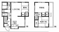[一戸建] 神奈川県大和市桜森1丁目 の賃貸【/】の間取り