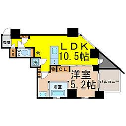 SK BUILDING−501[7階]の間取り